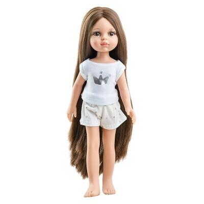 Кукла Кэрол Рапунцель с длинными волосами без одежды в комлекте с пижамой  (Паола Рейна), 34 см