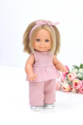 Кукла Бетти с ароматом карамели, в костюме из муслина цвета
