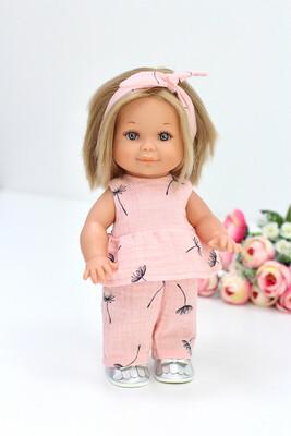 Кукла Бетти с ароматом карамели, в костюме из муслина