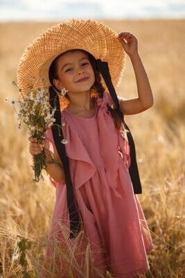 Платье из муслина «Сухая роза»