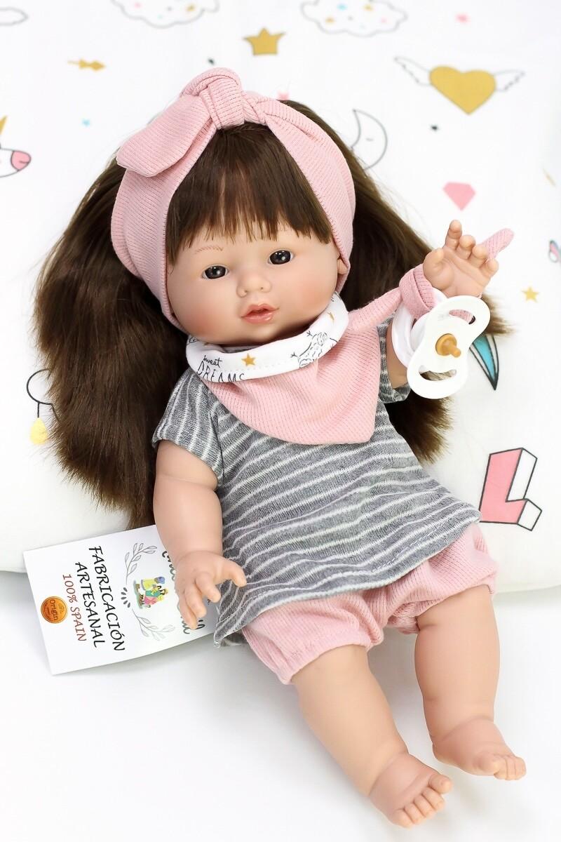Куколка с соской, полностью виниловая Joy, Nines d'Onil, 37 см