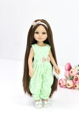 Кукла Кэрол Рапунцель с длинными волосами в стильном комбинезоне (пижама в комплекте) (Паола Рейна), 34 см