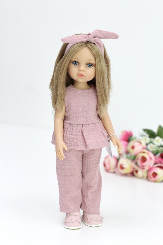 Кукла Карла с голубыми глазами, с прямыми волосами по пояс в стильном образе (Паола Рейна), 34 см