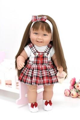 Кукла виниловая Manolo Dolls DIANA Рапунцель-школьница, 50 см. Упаковка пакет