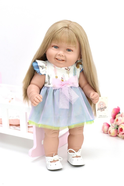 Кукла виниловая Manolo Dolls DIANA Рапунцель, 50 см
