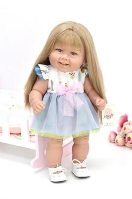 Кукла виниловая Manolo Dolls DIANA Рапунцель, 50 см. Упаковка пакет