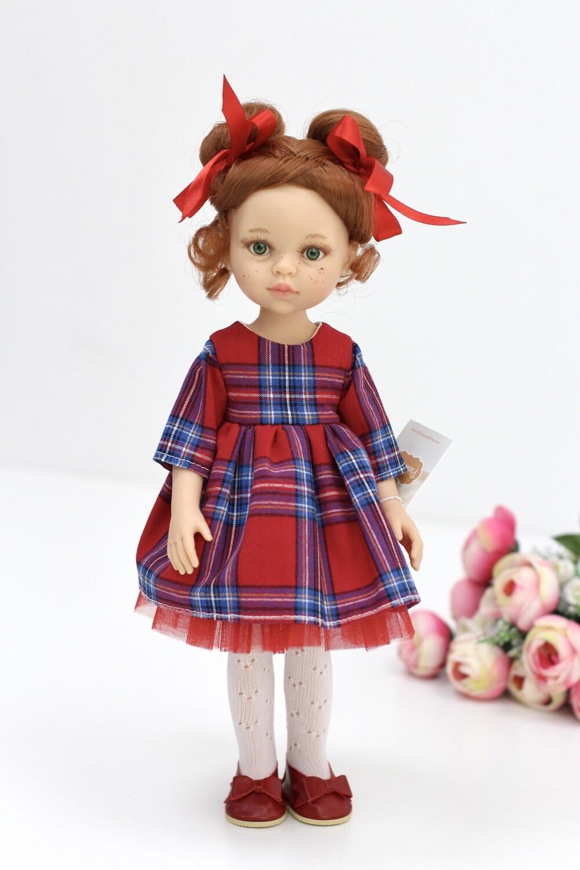 Кукла Кристи с буклями - школьница,  Паола Рейна , 34 см