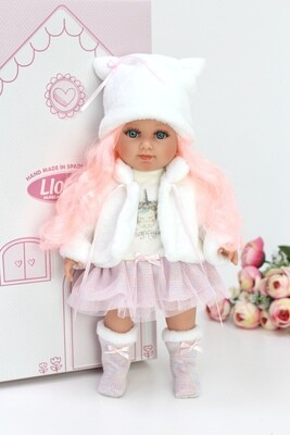 Кукла мягконабивная Елена, Llorens, 35 см. Упаковка фирменная коробка