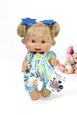 Ванильный пупс улыбашка Marina&Pau, светлые волосы - 26 см