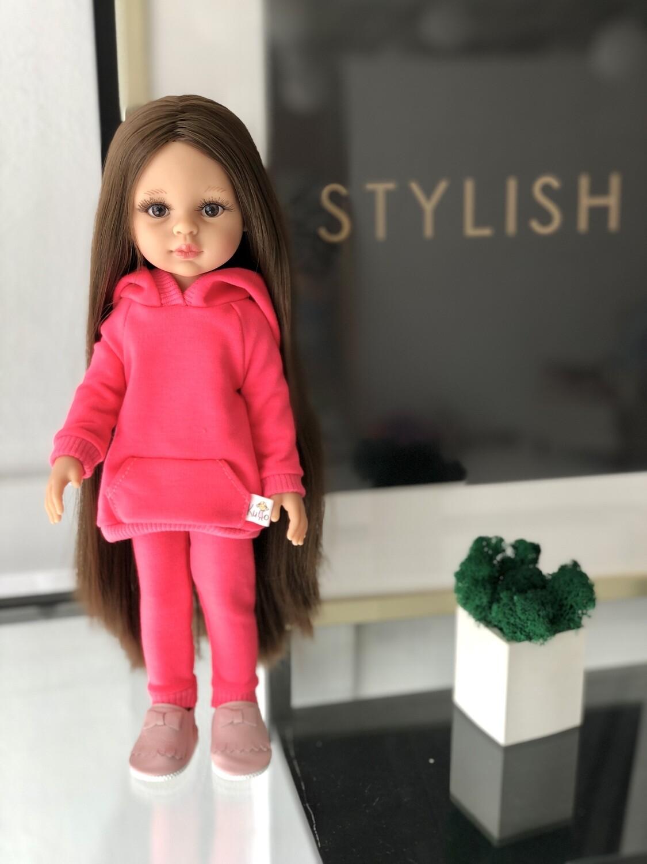 Кукла Кэрол Рапунцель с длинными волосами в ярком образе (Паола Рейна) (пижама в комплекте), 34 см