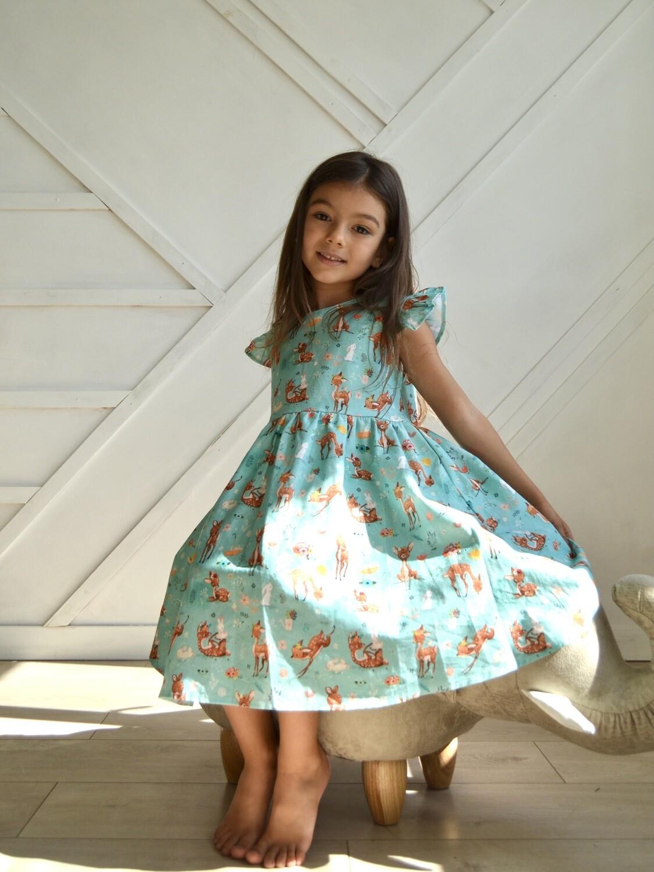 Платье из 100% премиального хлопка   «Волшебный лес»