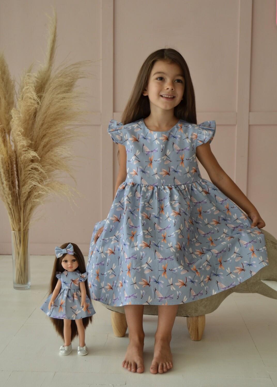 Платье из 100% премиального хлопка «Стрекозы»