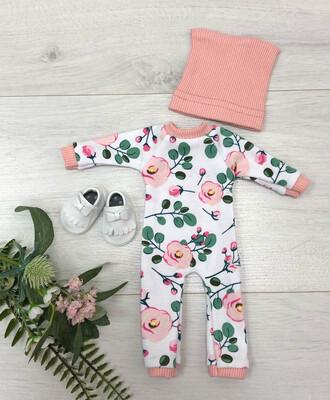 Комбинезон с цветами для куклы Paola Reina 32-34 см