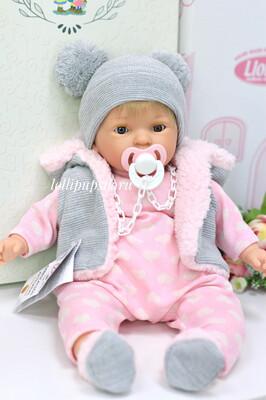 Кукла мягконабивная Noa с закрывающимися глазками, Nines d'Onil, 45 см, со звуковым механизмом. Упаковка фирменная коробка