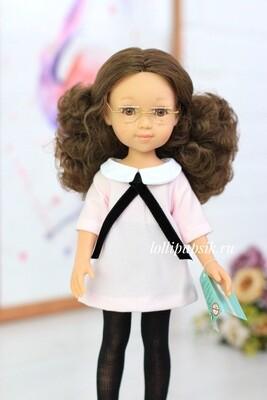 Кукла Марго с карими глазами в очках, Reina del Norte (в фабричном наряде), 34 см