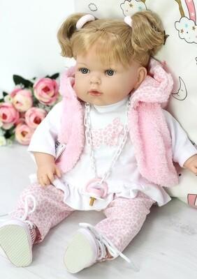 Кукла мягконабивная Тита, Nines d'Onil, 45 см. Упаковка фирменный рюкзачок