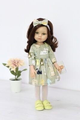 Кукла Кэрол с волосами по пояс в красивом наряде, с зелеными глазами (Паола Рейна), 34 см