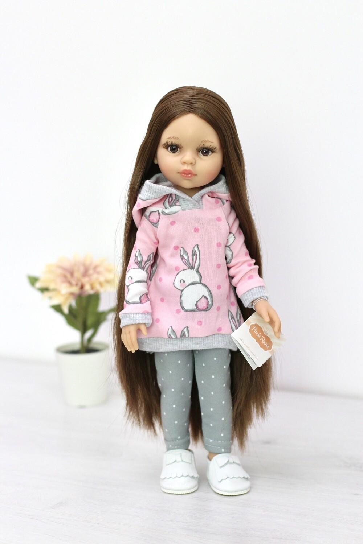 Кукла Кэрол Рапунцель с длинными волосами в модном образе (Паола Рейна) (пижама в комплекте), 34 см