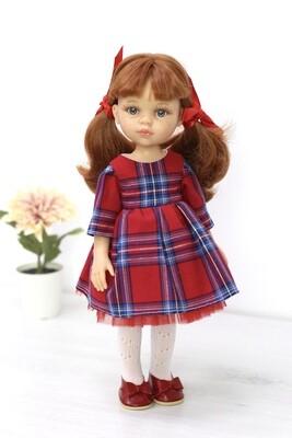 Кукла Кристи с челкой - школьница,  Паола Рейна, 34 см