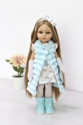 Кукла Карла Рапунцель с серо-голубыми глазами в новом образе (пижамка в комплекте), Паола Рейна , 34 см
