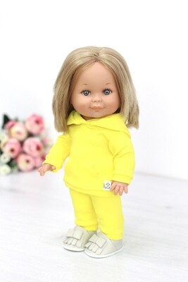 Кукла Бетти с ароматом карамели, в костюме неоново-желтого цвета, 30 см, Lamagik Magic Baby