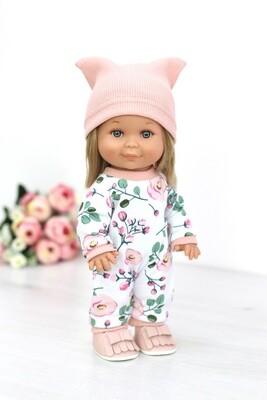 Кукла Бетти с ароматом карамели, в комбинезоне с шапочкой, 30 см, Lamagik Magic Baby
