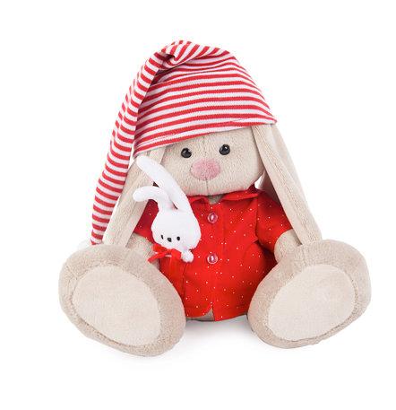 Зайка Ми в красной пижаме - 23 см в положении сидя
