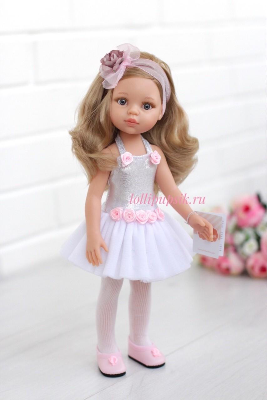 Кукла Карла балерина, с серыми глазами (Паола Рейна) (в фабричном наряде), 34 см