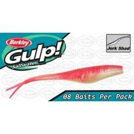 "Gulp 5 ""Jerk Shad Pink Shine"