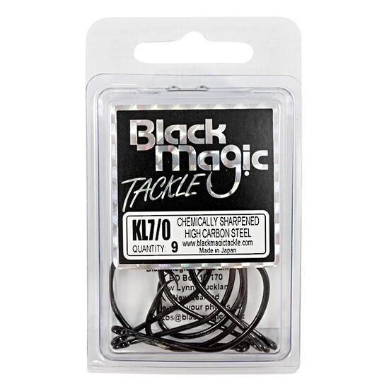 KL 7/0 Black Hooks Economy Pack