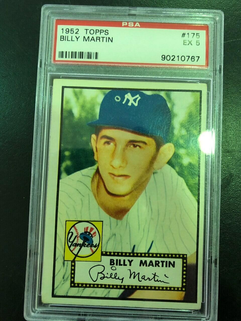 1952 Topps #175 Billy Martin rookie, PSA graded 5