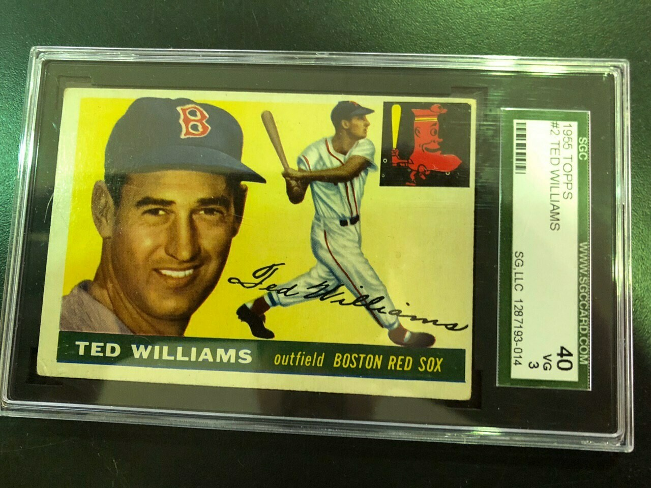 1955 Topps  #2 Ted Williams, SGC 3