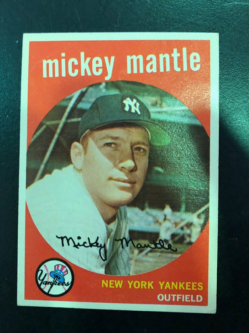 1959 Topps #10 Mickey Mantle, List $800, Sell $595