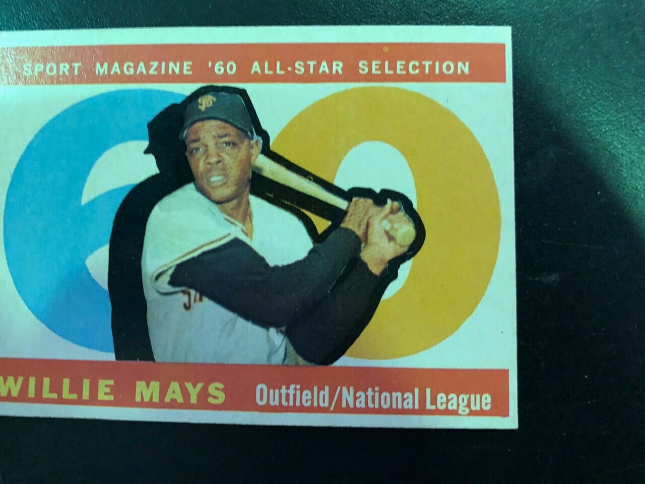 1960 Topps #564 Willie Mays All Star, List $100, Sell $90
