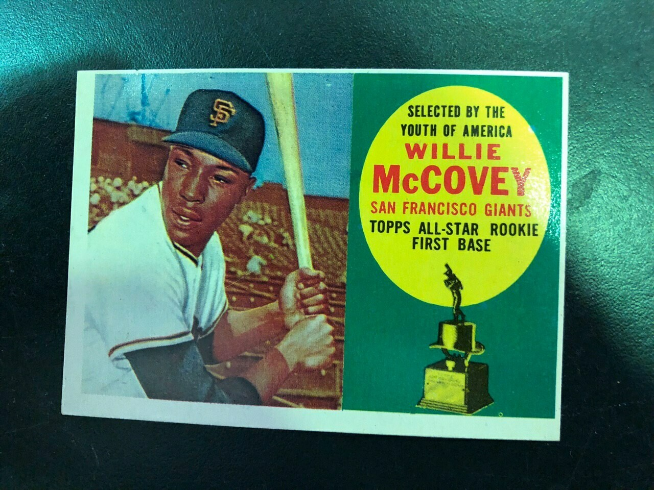 1960 Topps #316 Willie McCovey rookie, List $250, Sell $195