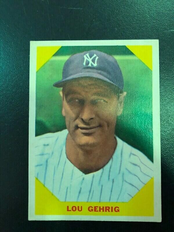 1960 Fleer #28 Lou Gehrig, List $80