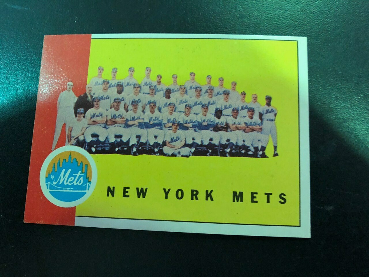 1963 Topps #473 NY Mets 1st Team card, $100