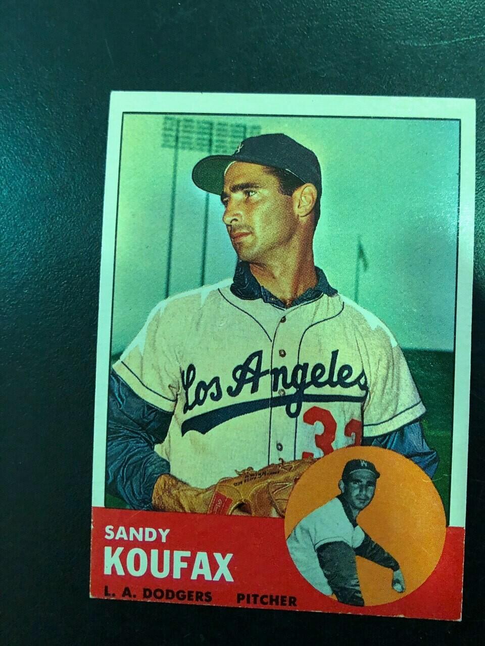 1963 Topps #210 Sandy Koufax, List $200, Sell $175