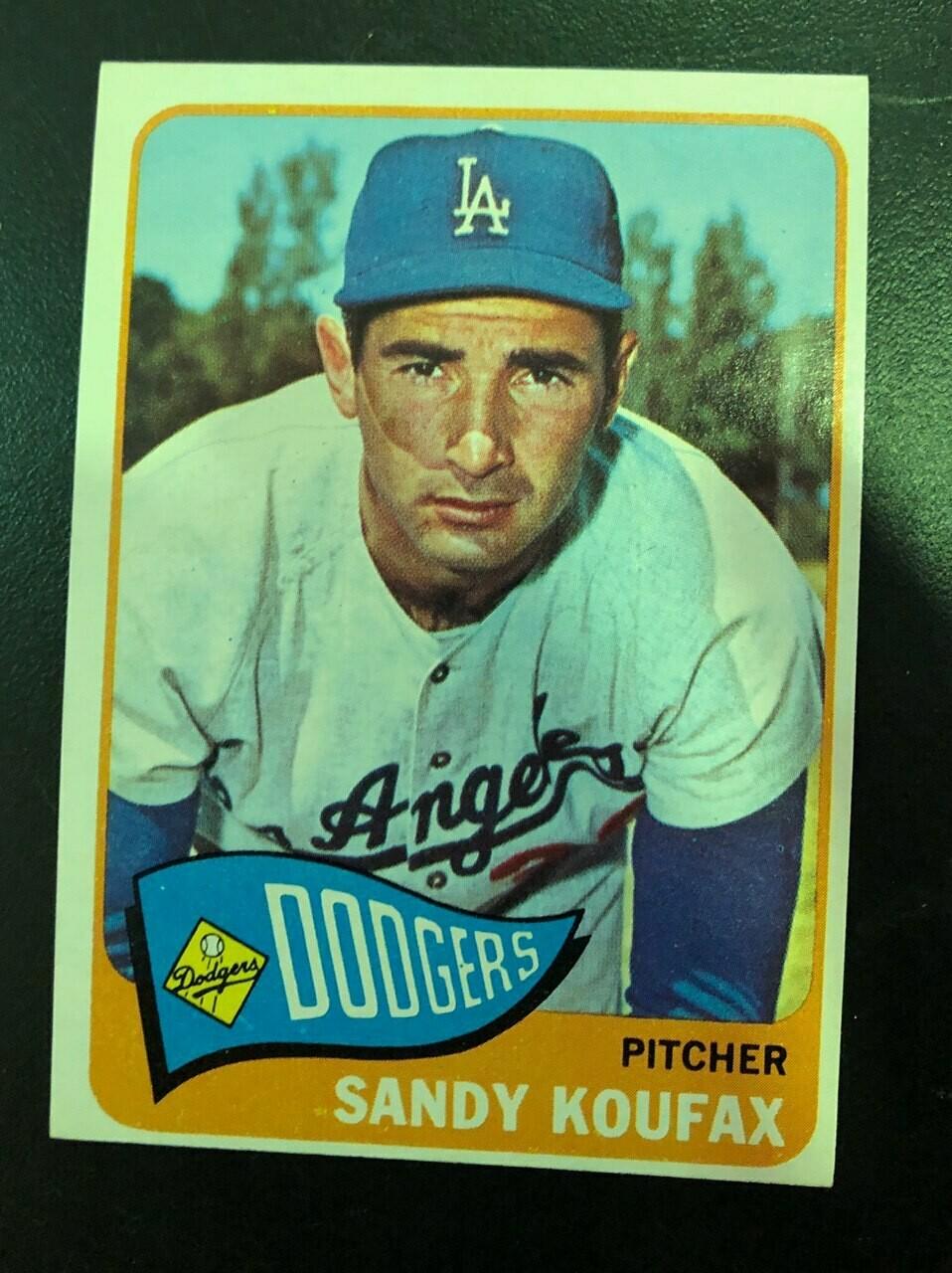 1965 Topps #300 Sandy Koufax, List $200