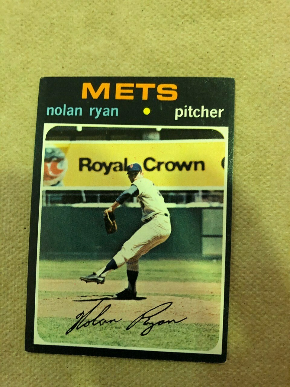1971 Topps #513 Nolan Ryan, List $120, Sell $110