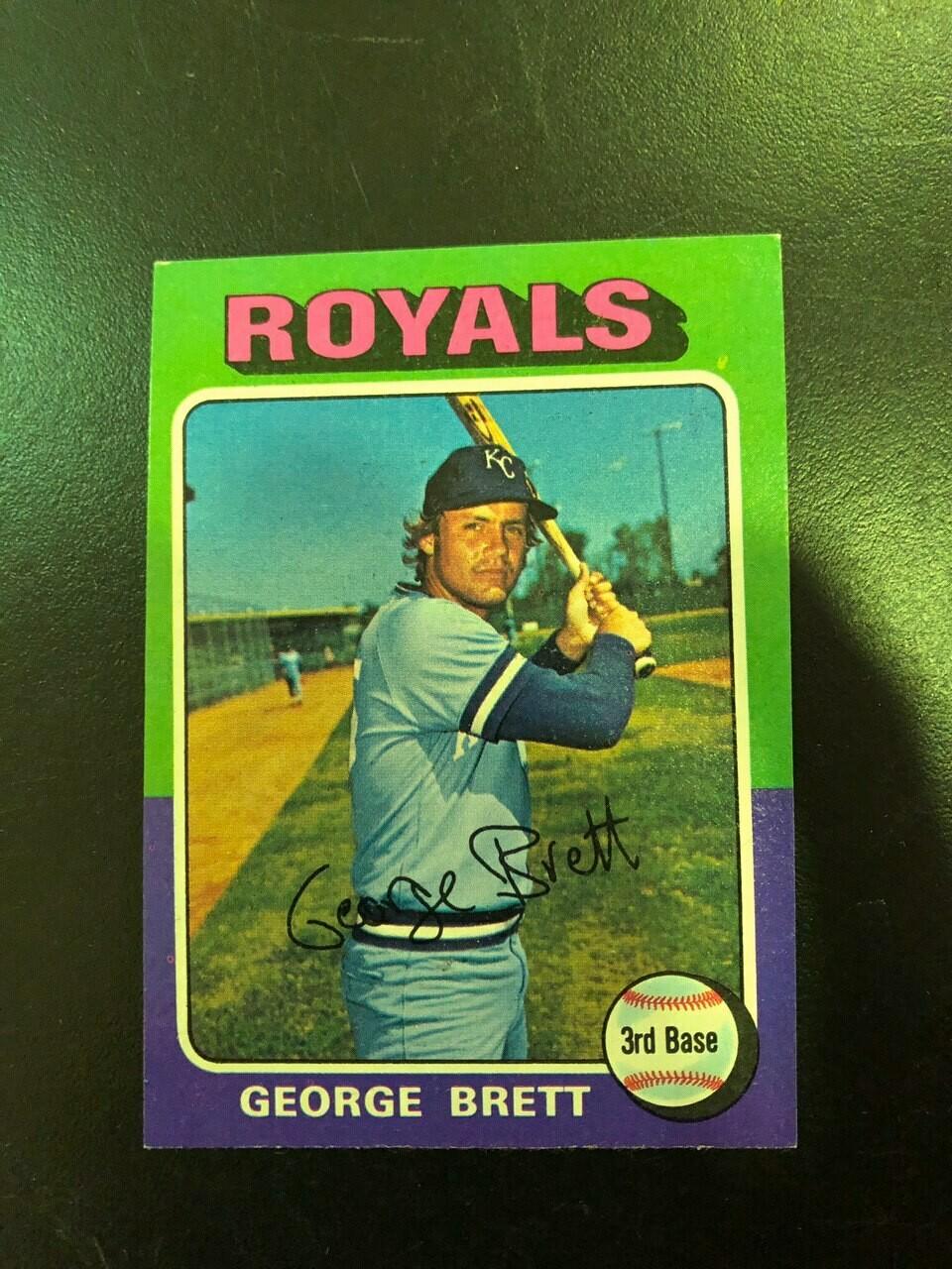 1975 Topps #228 George Brett rookie, $100