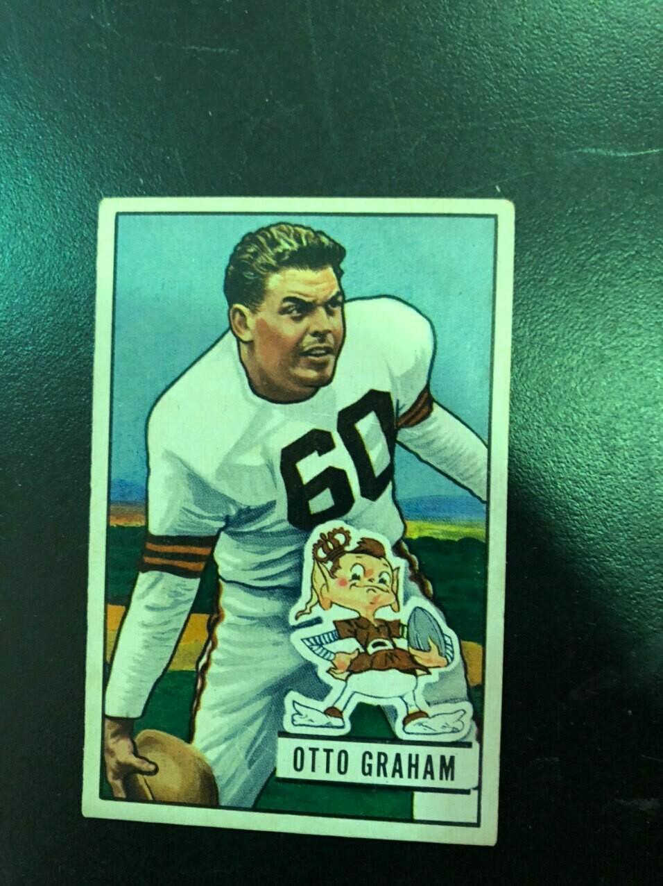1951 Bowman #2 Otto Graham, List $250, $225
