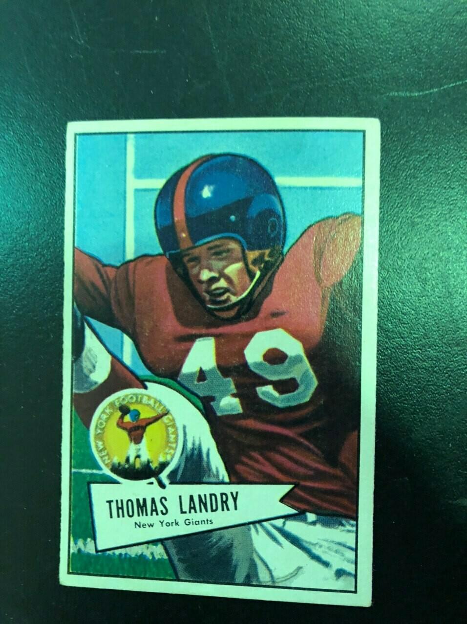 1952 Bowman Large #142 Tom Landry rookie, List $600, Sell $395