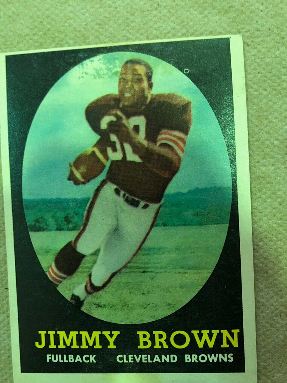 1958 Topps #62 Jimmy Brown rookie, $495