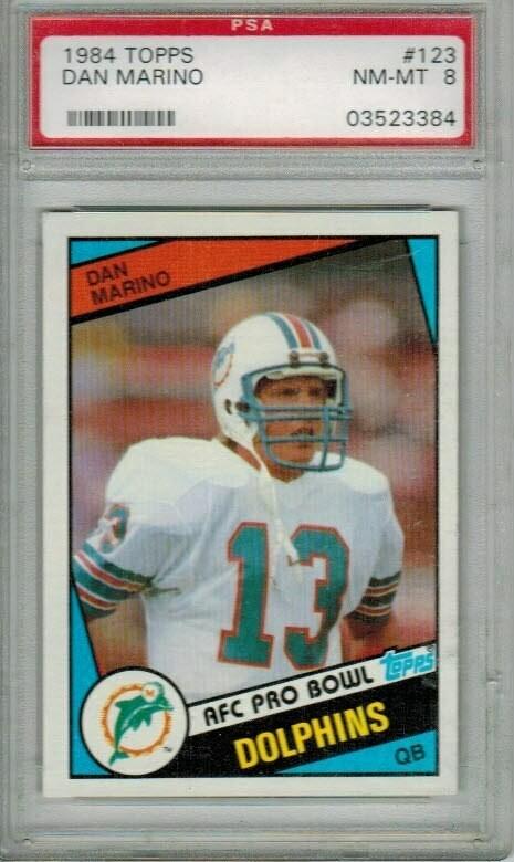 1984 Topps Dan Marino rookie PSA 8