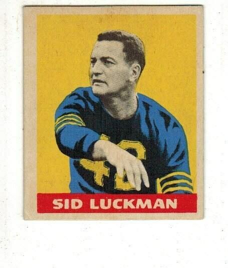 1949 Leaf #15 Sid Luckman