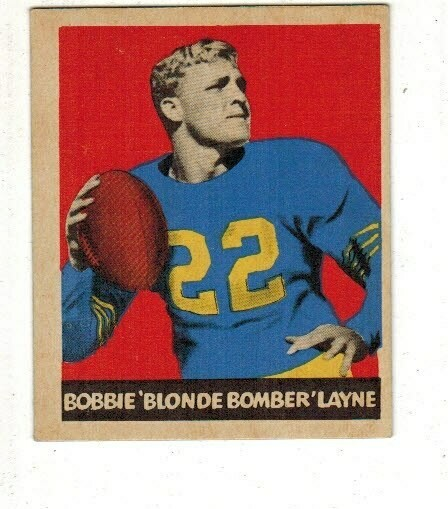 1949 Leaf #67 Bobby Layne