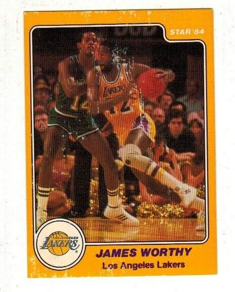 1984/85 Star #25 James Worthy rookie list $50