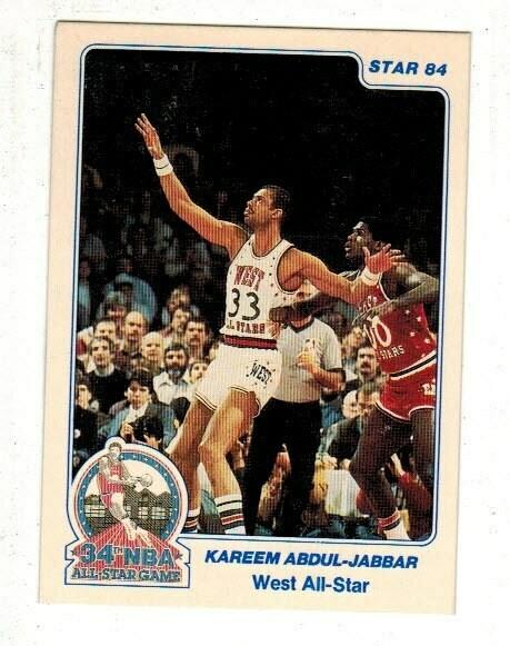 1984/85 Star #14 Kareem Abdul Jabbar All Star list $12