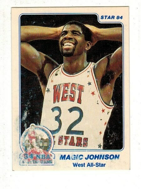 1984/85 Star #21 Magic Johnson All Star list $25